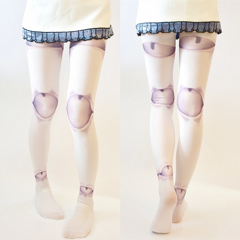 ball joint tights. harajuku puppet ball-joint doll tattoo tights pantyhose ball joint l